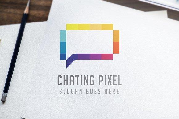 Chat Pixel Logo