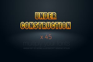 AI CS5 graphic styles Construction