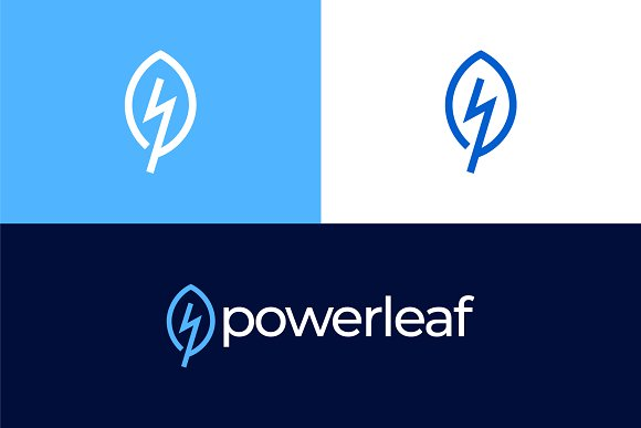 leaf power logo logo templates creative daddy