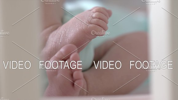 Newborn Moving Little Feet