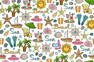 Pattern with summer symbols