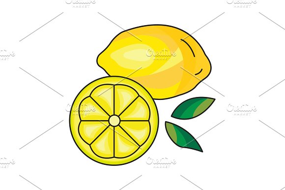 Lemon Vector Icon On A White