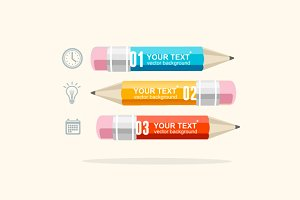 Vector business infographics pencils