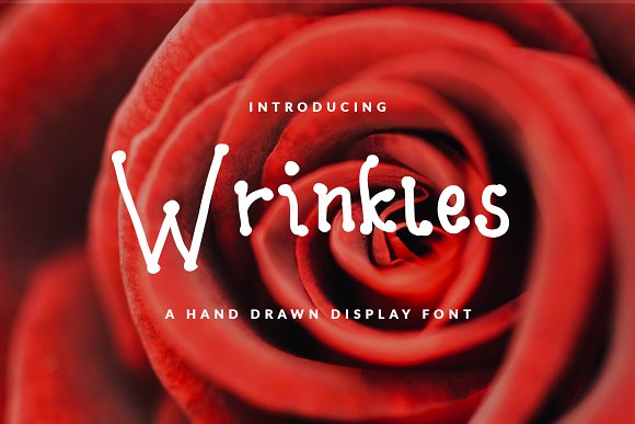 WRINKLE FONT FEMININE CHICK FUN