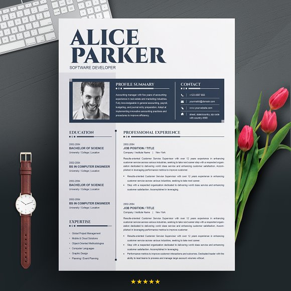 ms word cv resume template resume templates creative market