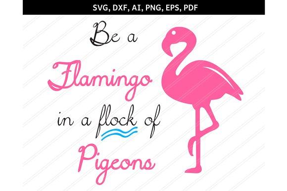 Flamingo Svg Dxf Eps Pdf Png Ai