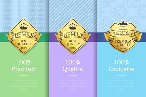 100 Exclusive Premium Quality Labels on Posters