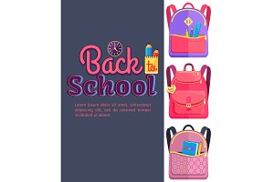 Backpack for Child School Stationery Accessories