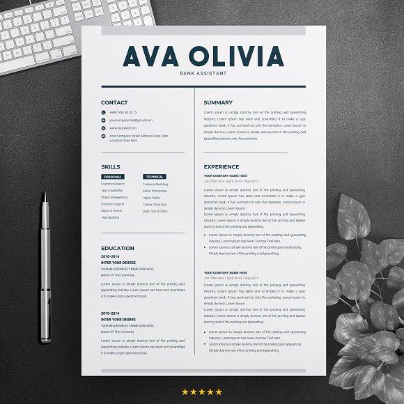 Clean Resume Template MS Word