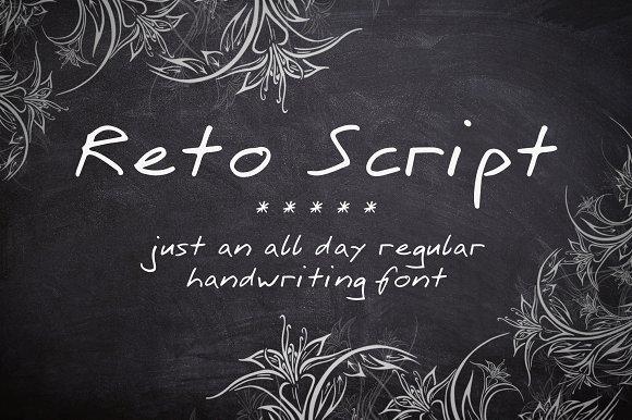 Reto Script Font