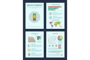 Green Energy and Money Saving Vector Illustration