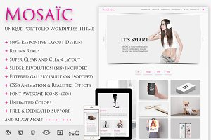 MOSAIC - Unique Portfolio WP Theme