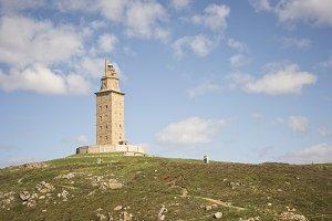 Hercules tower detail in La Coruna,