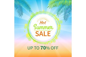 Hot Summer Sale Up to 70 Off Promotional Banner