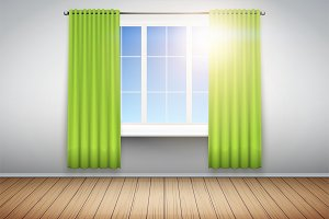Example of empty room with window.
