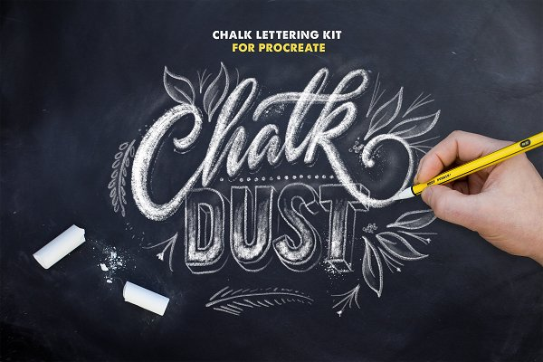 Chalk Dust - Procreate Lettering Ki…