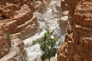 The picturesque narrow slot canyon