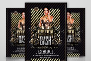 Golden Night Club Flyer Template