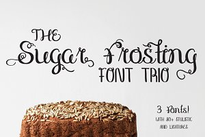 Sugar Frosting Font Trio