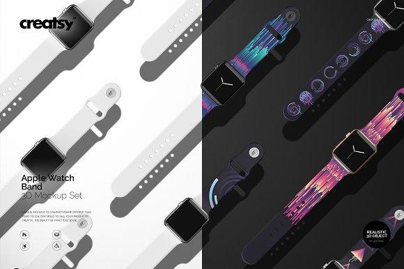 Download Apple Watch Band Mockup Set
