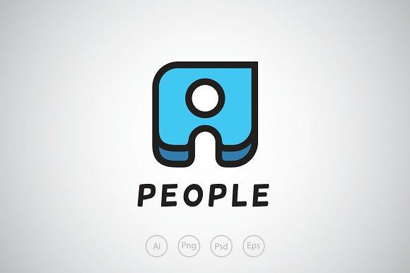 People Piece Logo Template