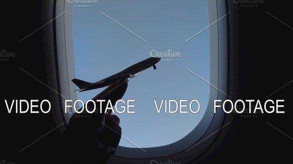 Plane Model Against The Sky In Illuminator