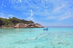 Exotic tropical Similan Islands.