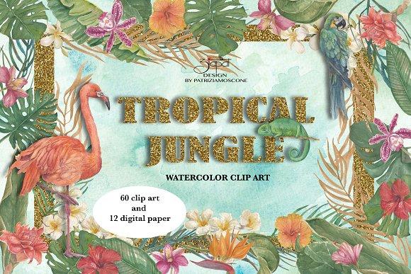 Tropical Jungle Clip Art