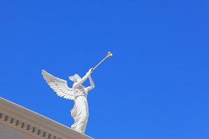 A white statue