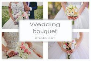 Wedding bouquet photo set.
