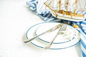 Sea themed table setting