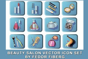 Beauty salon vector icon set