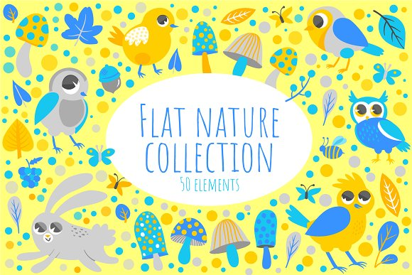 Flat Nature Collection