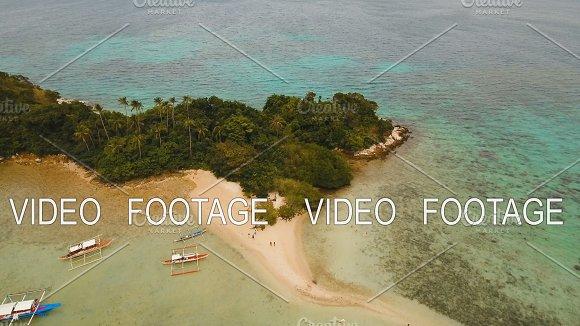 Beautiful Tropical Beach Aerial View Tropical Island