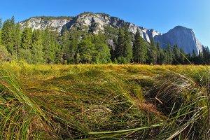 Yosemite park. Sunrise, autumn