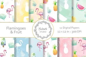 Flamingo digital paper