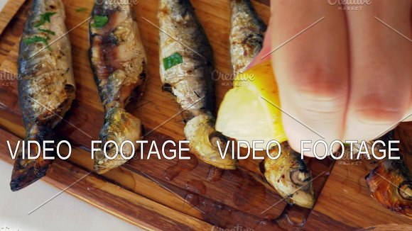 Grilled Sardines With Lemon Juice