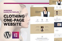 Clothing Elementor One-Page Template