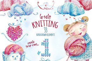 Lovely Knitting Clipart #1