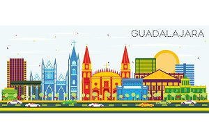 Guadalajara Mexico Skyline