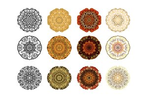 37 Vector Mandala Ornaments