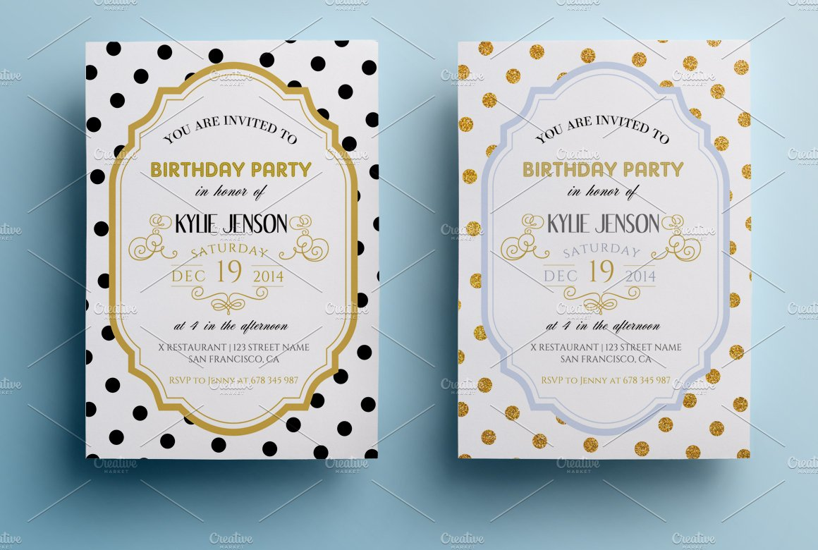 Elegant birthday party invitation II ~ Invitation Templates ...