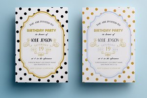 Elegant birthday party invitation II