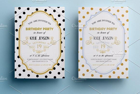 Elegant Birthday Party Invitation II