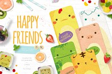 Happy Friends - cute animal set by Euonia Meraki in Objects