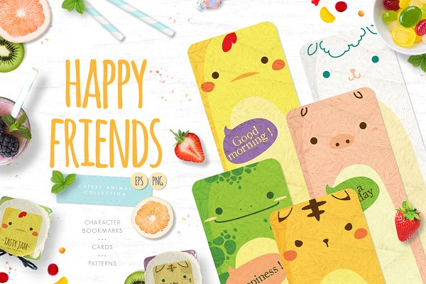 Objects: Euonia Meraki - Happy Friends - cute animal set