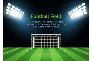 Football Field Card Poster