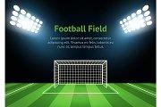 Football Field Card Poster