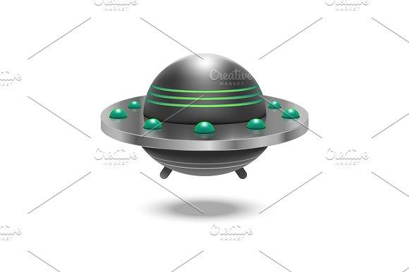 3D Ufo Flying Spaceship