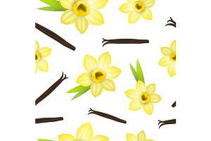 Vanilla Flower and Pods Pattern